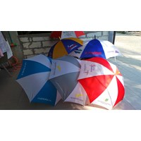 Distributor  souvenir payung standart rangka hitam bisa sablon logo 3
