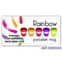 Jual Grosir Mug Porcelen Rainbow Barang Promosi 2