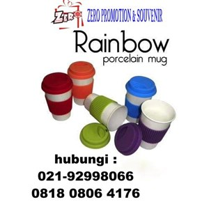 Mug Keramik Promosi Rainbow  Merchandise