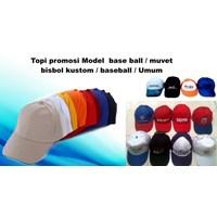 Jual Produksi Topi promosi Model base ball muvet