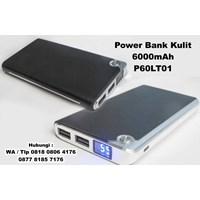 Souvenir Power Bank Kulit 6000 Mah P60lt01