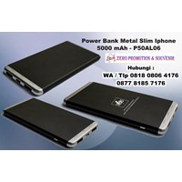 Souvenir Power Bank Metal Slim Iphone 5000 mAh P50AL06