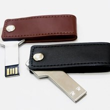 Usb Flash disk swivel kulit 4GB