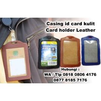 souvenir Casing id card kulit Card holder Leather