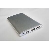 Souvenir Power Bank Metal Slim 6000 Mah Tipe P60al09