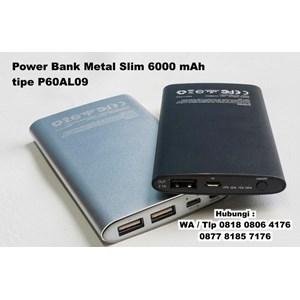 Dari Souvenir Power Bank Metal Slim 6000 Mah Tipe P60al09  1
