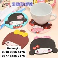 Produksi Tatakan Gelas Karet Rubber Coaster Souvenir