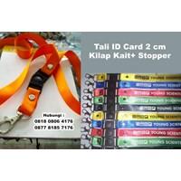 Souvenir Tali Id Card 2 Cm Kilap Kait Stopper