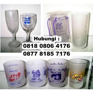 Souvenir Gelas Promosi Dan Pernikahan
