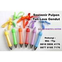 Jual Barang Promosi Perusahaan Pulpen Tali Love Gendut Insert Sticker Pen  2