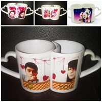 Hadiah Romantis Mug Couple Gelas Promosi 1