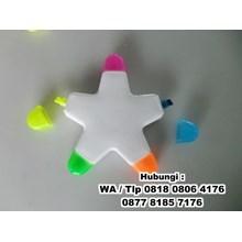 Spidol dan Highlighter stabilo bintang 5 Warna