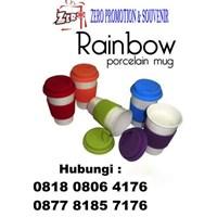 Rainbow Glass Tumbler Mug Ready Promotion