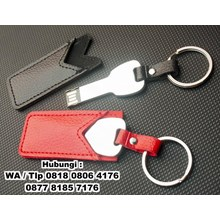 Usb Flash Disk Lock Metal Material With Leather Ho