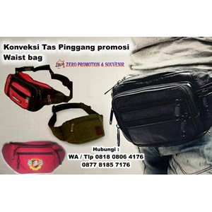 Konveksi Tas Pinggang Promosi Waist Bag Tas Promosi