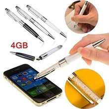 USB Flash Disk Usb Crystal Pen Stylus 3 In 1
