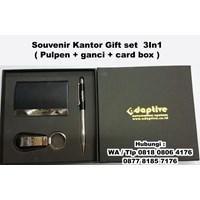 Barang Promosi Perusahaan Souvenir Kantor Gift Set 3In1