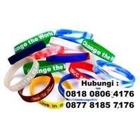 Barang Promosi Perusahaan Gelang Karet Promosi Rubber Wrist Band