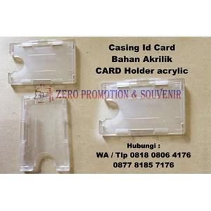 Casing Id Card Bahan Akrilik Card Holder Acrylic Kartu Tanda Pengenal