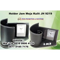 Jual Jam Meja Promosi Holder Jam Meja Kulit Jh 9219  Jam Promosi 2