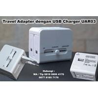 Distributor Travel Adapter Dengan Usb Charger Uar03  Barang Promosi Perusahaan 3