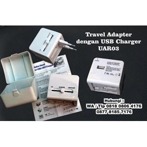 Travel Adapter Dengan Usb Charger Uar03  Barang Promosi Perusahaan