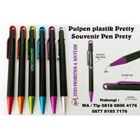 Jual  Pulpen Plastik Pretty Souvenir Pen Prety Pulpen Dan Pensil  2