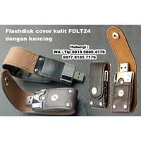 Distributor Souvenir Usb Flash Disk Cover Kulit Fdlt24 Dengan Kancing  3