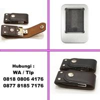 Jual Souvenir Usb Flash Disk Cover Kulit Fdlt24 Dengan Kancing  2