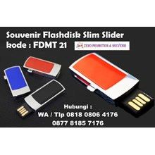 Usb Flash Disk Souvenir Flashdisk Slim Slider Kod