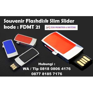 Usb Flash Disk Souvenir Flashdisk Slim Slider Kode Fdmt 21