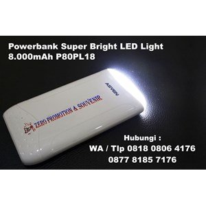 Barang Promosi Perusahaan Powerbank Super Bright Led P80pl18