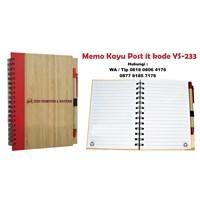 Jual Souvenir Promosi Memo Kayu Post It Kode Ys233 Buku Tulis