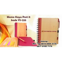 Jual Souvenir Promosi Memo Kayu Post It Kode Ys233 Buku Tulis 2