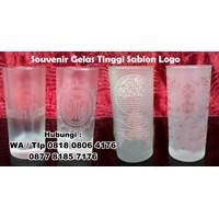 Souvenir Gelas Tinggi Sablon Logo Gelas Promosi 1