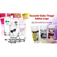 Jual Souvenir Gelas Tinggi Sablon Logo Gelas Promosi 2