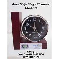 Jam Meja Kayu Promosi Model L - Jam Promosi 1