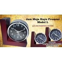 Jual Jam Meja Kayu Promosi Model L - Jam Promosi 2