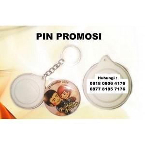 Barang Promosi Perusahaan Cetak Pin Gantungan Kunci 1 Muka