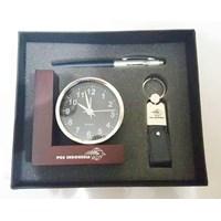 Jual Barang Promosi Perusahaan Gift Set 3 In 1 Dengan Jam Meja L  2