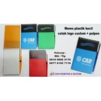Barang Promosi Perusahaan Memo Plastik Kecil Cetak Logo Custom 1
