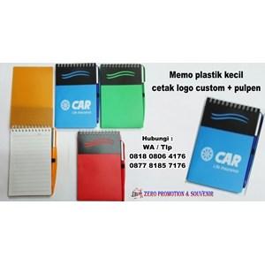 Barang Promosi Perusahaan Memo Plastik Kecil Cetak Logo Custom