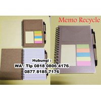 Barang Promosi Perusahaan Wooden Memo With Pen Recycle Theme Polos 1