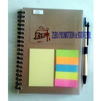 Distributor Barang Promosi Perusahaan Wooden Memo With Pen Recycle Theme Polos 3