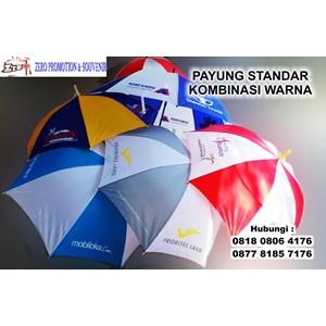 Payung Promosi Standar Kombinasi Warna Bisa Sablon Logo