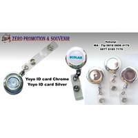 Barang Promosi Perusahaan Yoyo Id Card Chrome Silver