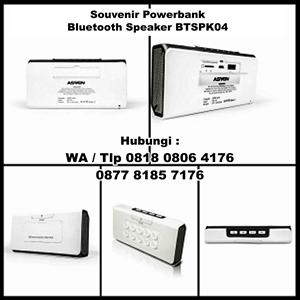 Barang Promosi Perusahaan Powerbank Dengan Bluetooth Speaker Btspk04