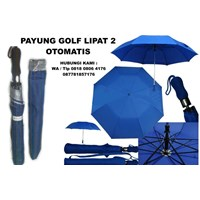 Payung Golf Lipat Dua Otomatis Payung Promosi