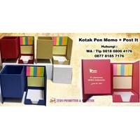 Barang Promosi Perusahaan Custom Kotak Pen Memo Post It  1
