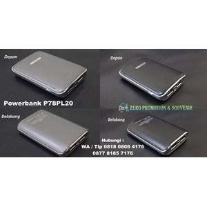Barang Promosi Perusahaan Souvenir Powerbank Plastik 7800Mah P78pl20